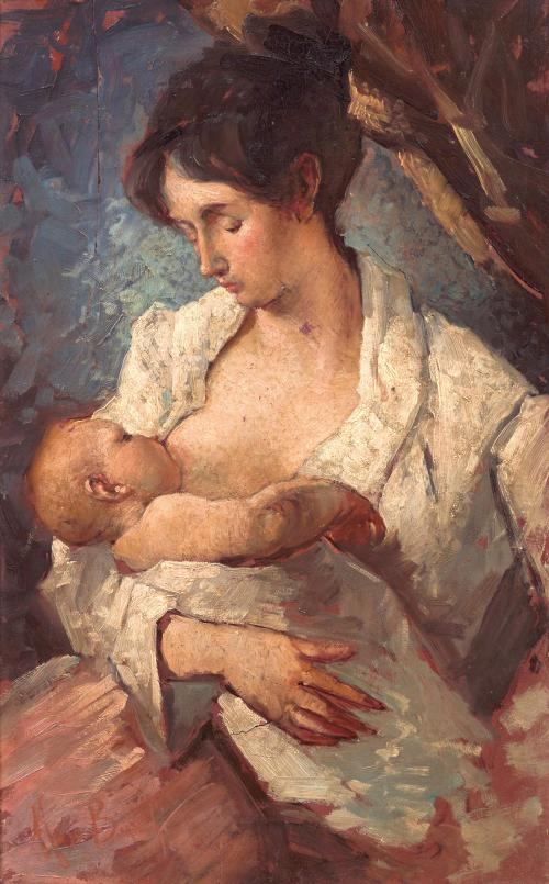 Mosé Bianchi - Mother Breastfeeding